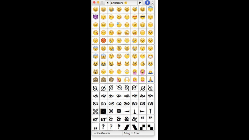 CharMenu for Mac - review, screenshots