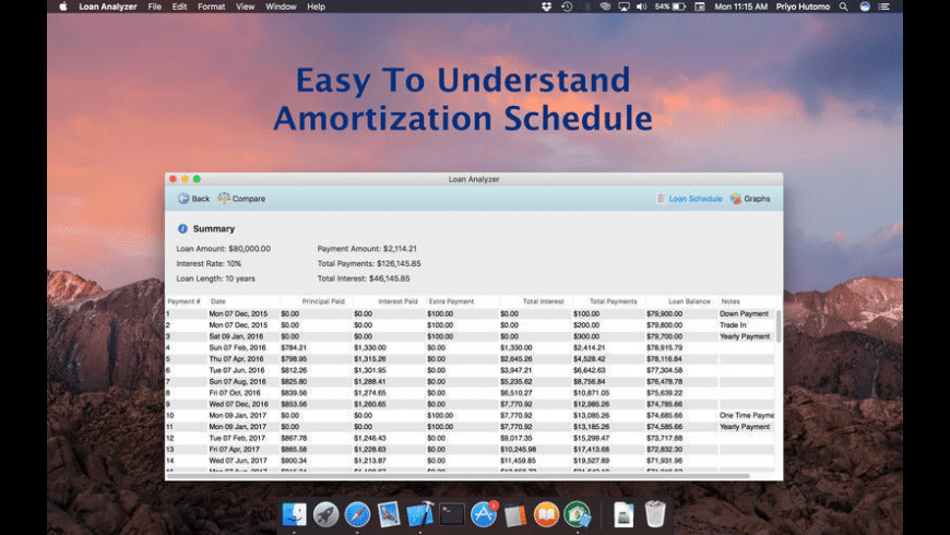 Loan Analyzer for Mac - review, screenshots
