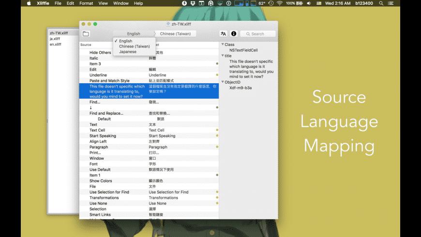 Xliffie for Mac - review, screenshots