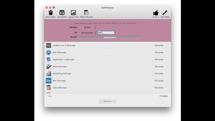 DiskKeeper for Mac - review, screenshots