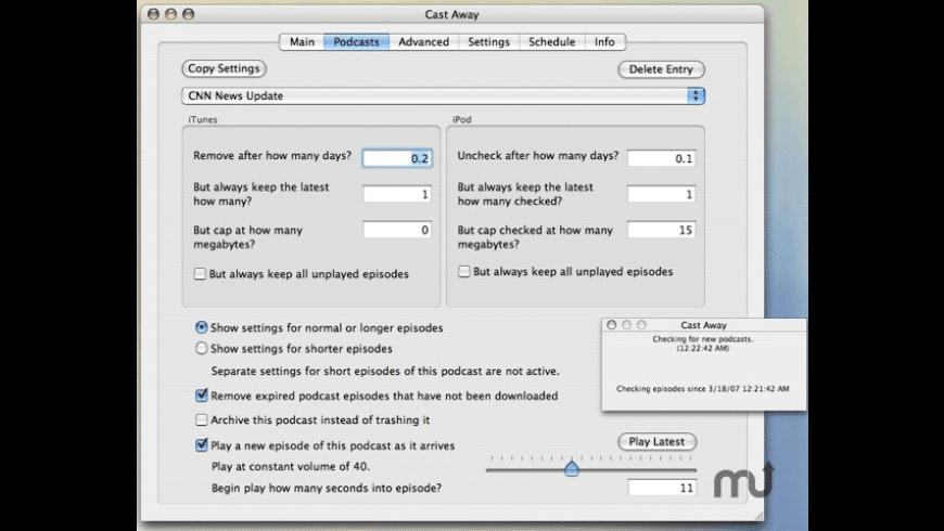 Cast Away for Mac - review, screenshots