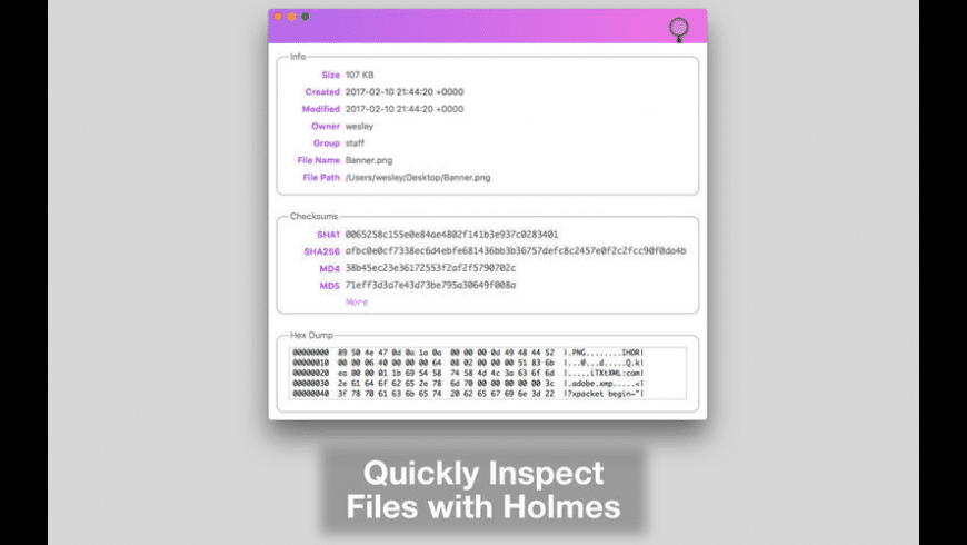 Holmes for Mac - review, screenshots