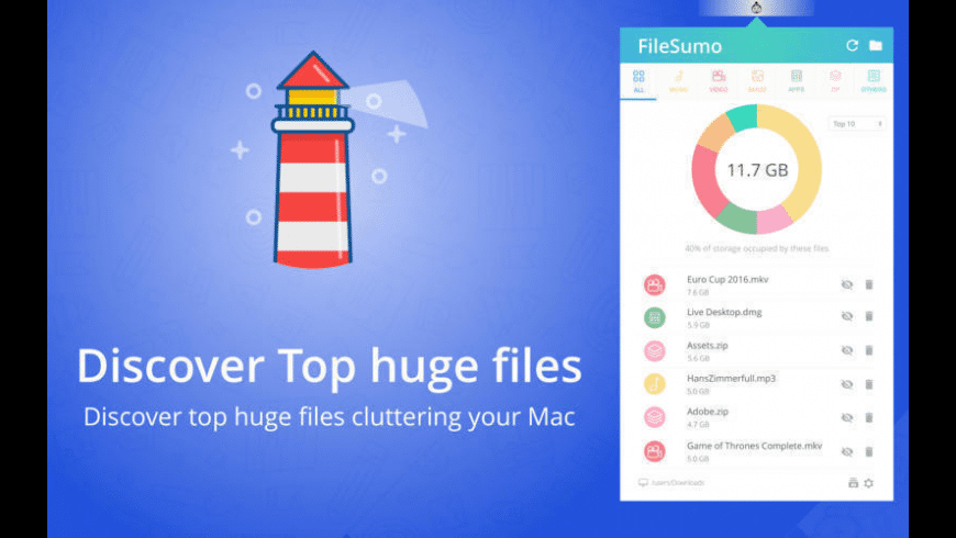 File Sumo for Mac - review, screenshots