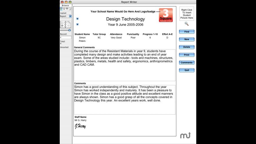 Report Writer for Mac - review, screenshots