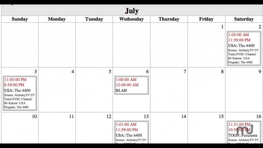 iCal2Web for Mac - review, screenshots
