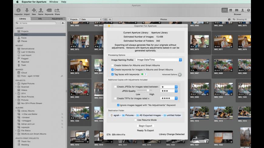 Exporter For Aperture for Mac - review, screenshots