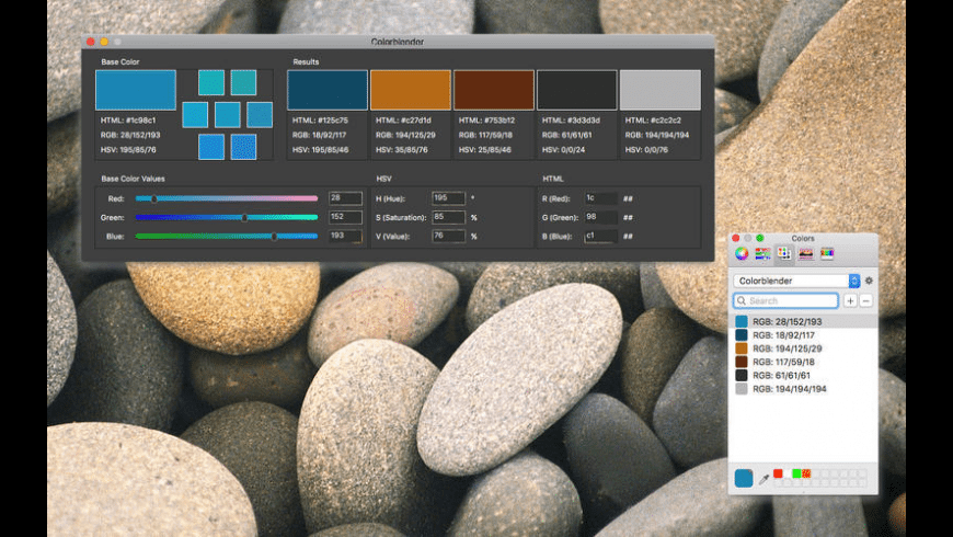 Colorblender for Mac - review, screenshots