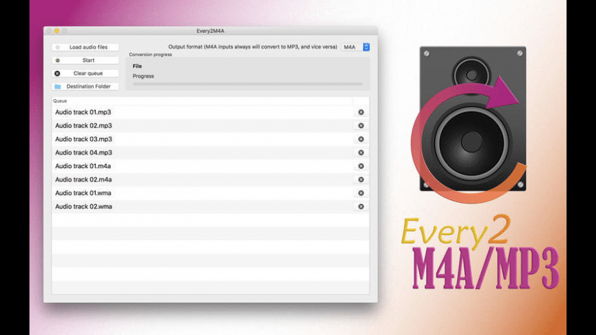 Every2M4A/MP3 for Mac - review, screenshots
