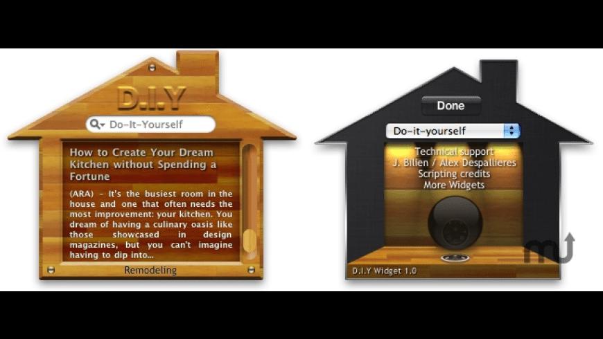 D.I.Y Widget for Mac - review, screenshots