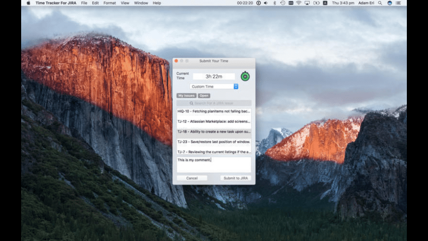 Time Tracker For JIRA for Mac - review, screenshots