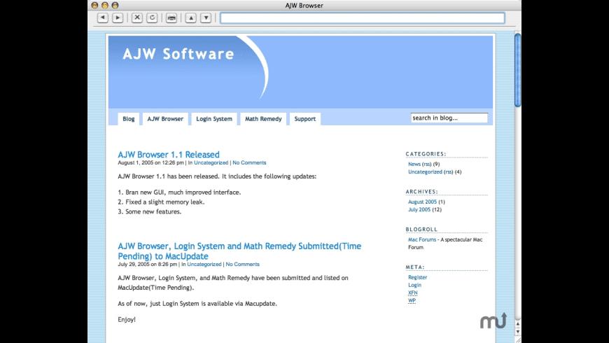 AJW Browser for Mac - review, screenshots