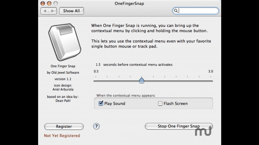 One Finger Snap for Mac - review, screenshots