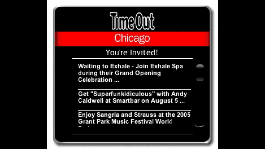 Time Out Chicago Widget for Mac - review, screenshots
