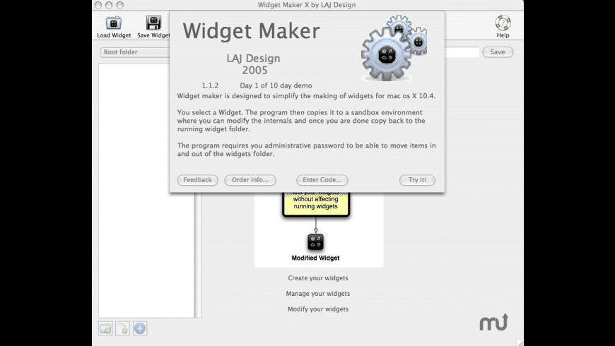 Widget Maker X for Mac - review, screenshots