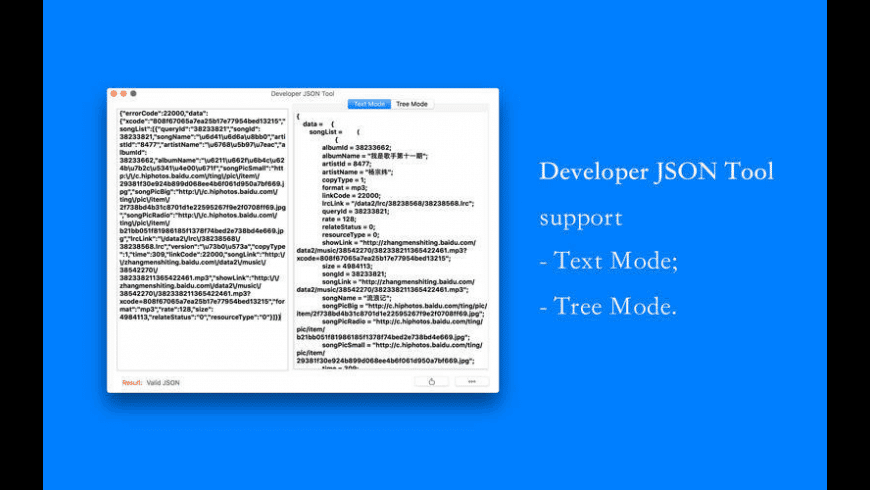 Developer JSON Tool for Mac - review, screenshots
