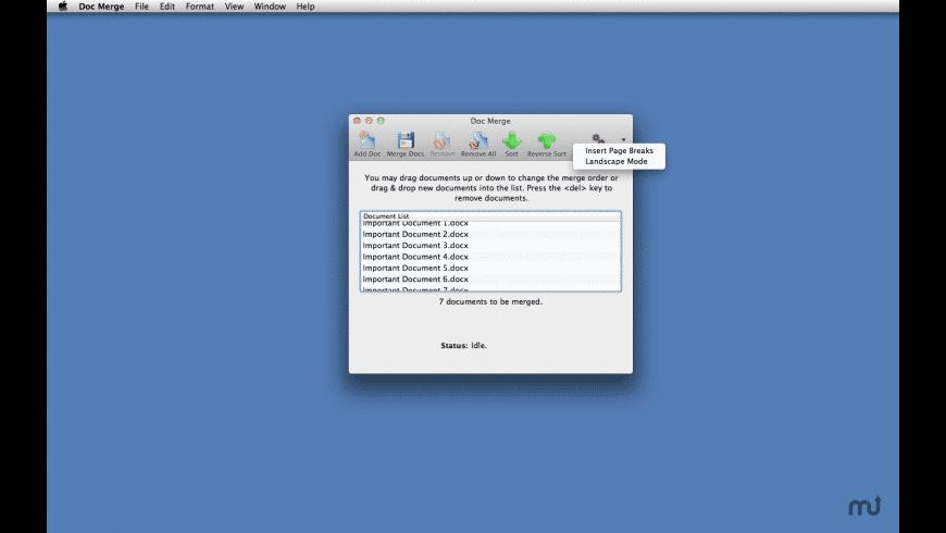 Doc Merge for Mac - review, screenshots