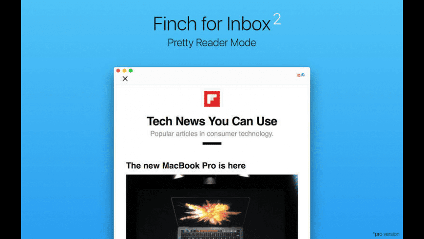 Finch for Inbox for Mac - review, screenshots