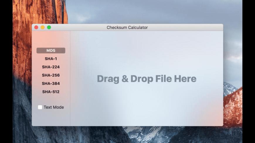 Checksum Calculator for Mac - review, screenshots