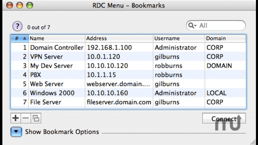 RDC Menu for Mac - review, screenshots