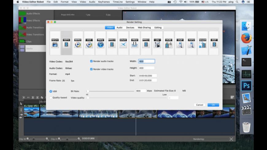 Video Editor Robot for Mac - review, screenshots