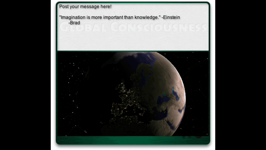 Global Consciousness Widget for Mac - review, screenshots