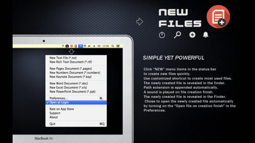 New Files for Mac - review, screenshots
