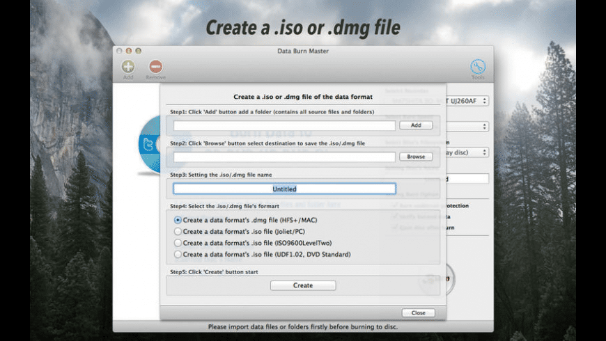 Data Burn Master for Mac - review, screenshots