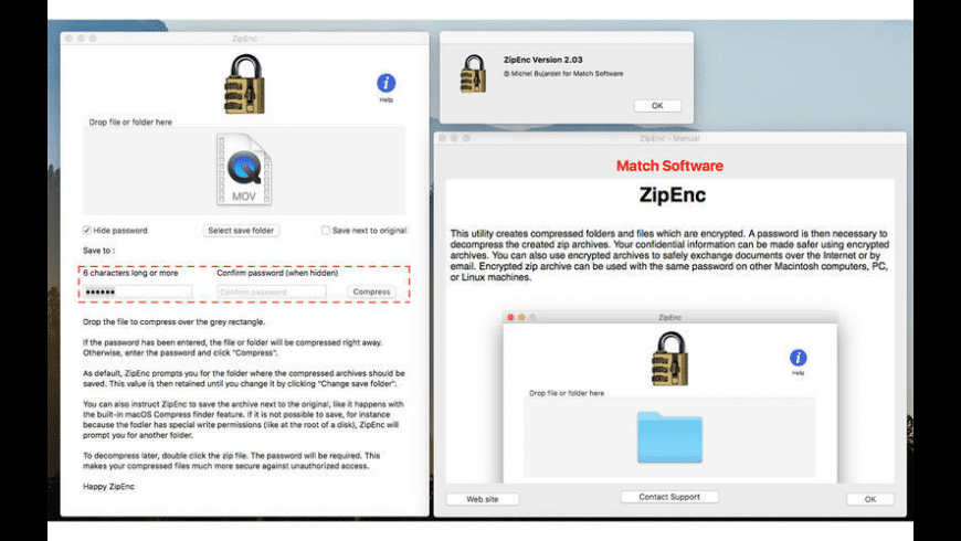 ZipEnc for Mac - review, screenshots