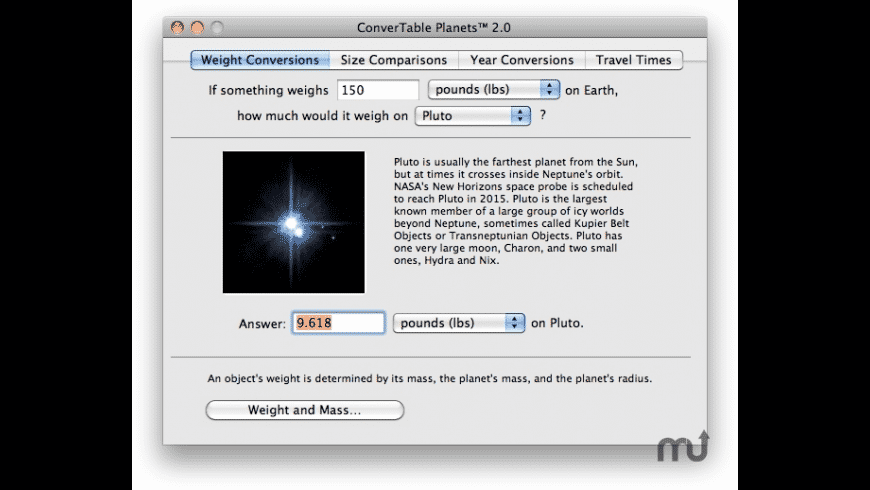 ConverTable Planets for Mac - review, screenshots