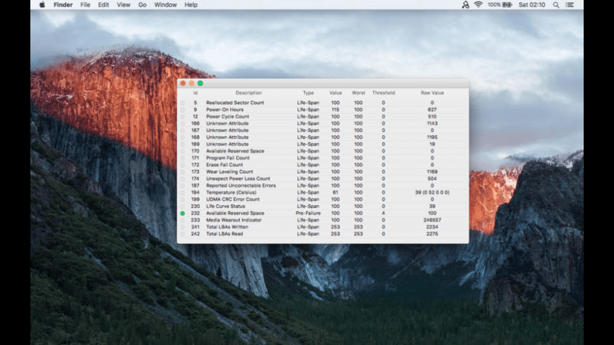SSD Health Check for Mac - review, screenshots