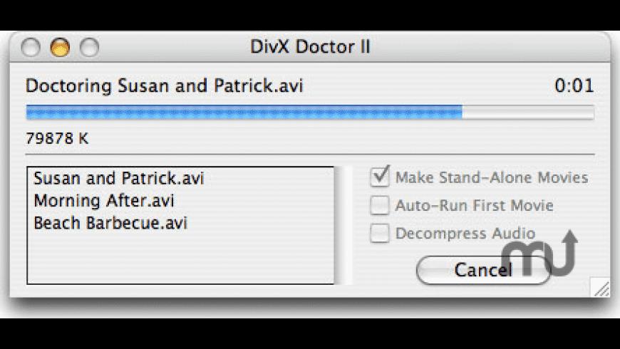 DivX Doctor II for Mac - review, screenshots