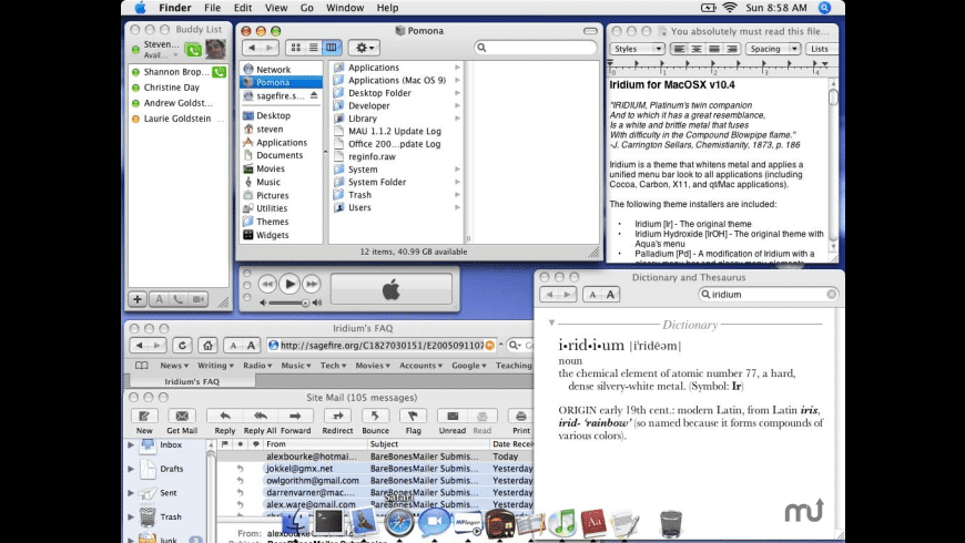 Iridium for Mac - review, screenshots
