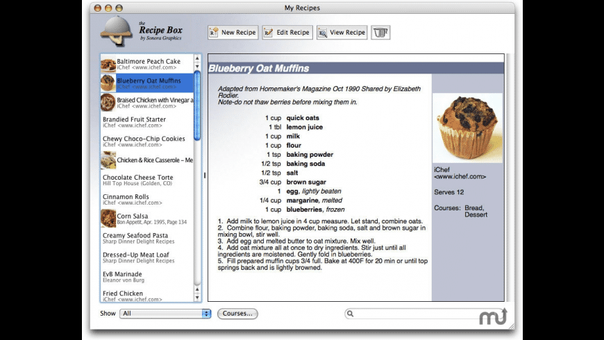 Recipe Box for Mac - review, screenshots