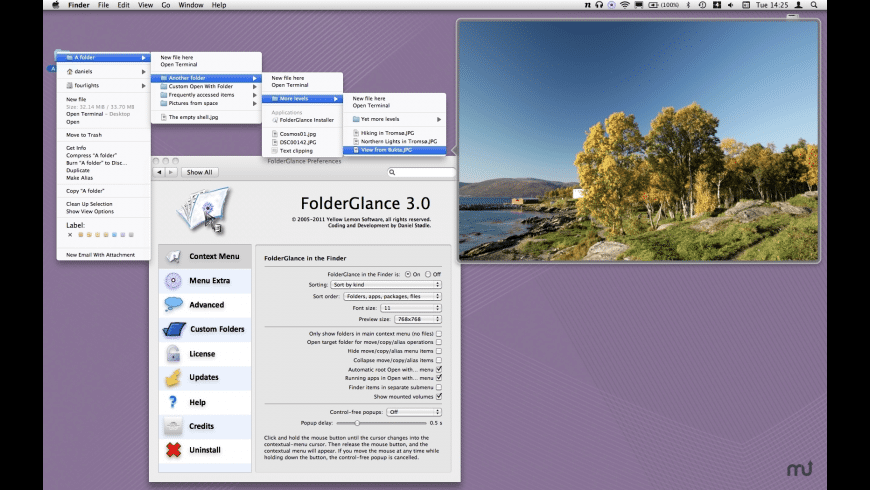 FolderGlance for Mac - review, screenshots