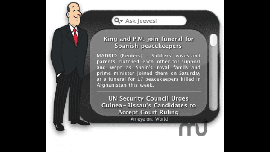 Ask Jeeves for Mac - review, screenshots