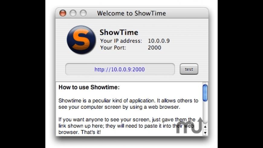 ShowTime for Mac - review, screenshots