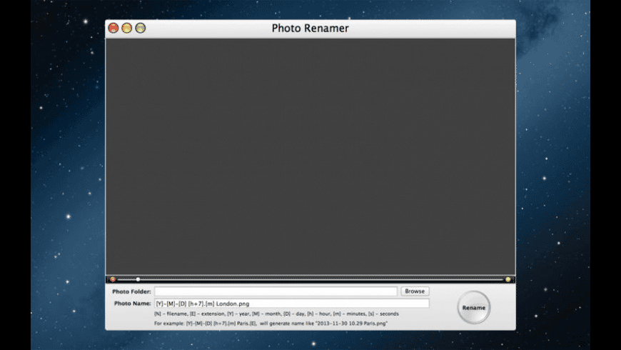 Photo Renamer for Mac - review, screenshots