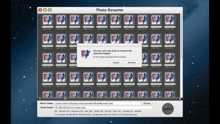 Photo Renamer for Mac - review, screenshots