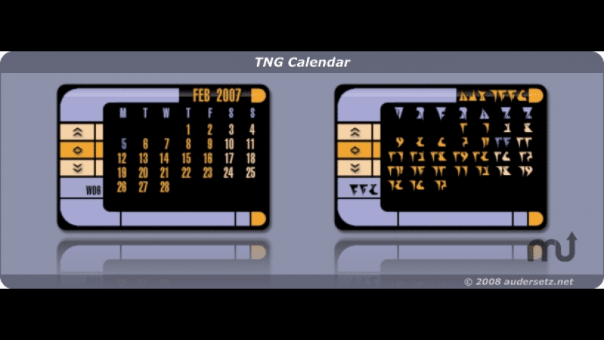 TNG Calendar for Mac - review, screenshots