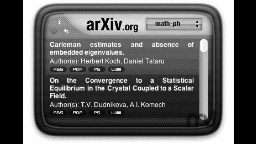 arXiv Widget for Mac - review, screenshots