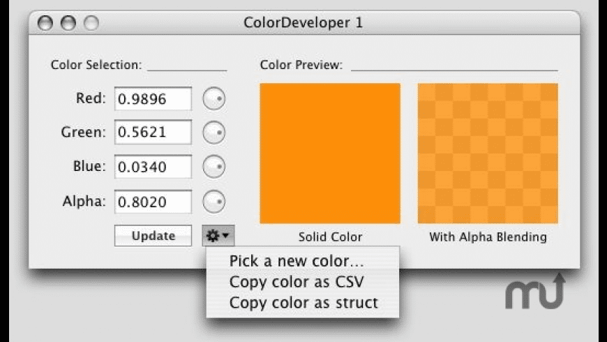 ColorDeveloper for Mac - review, screenshots