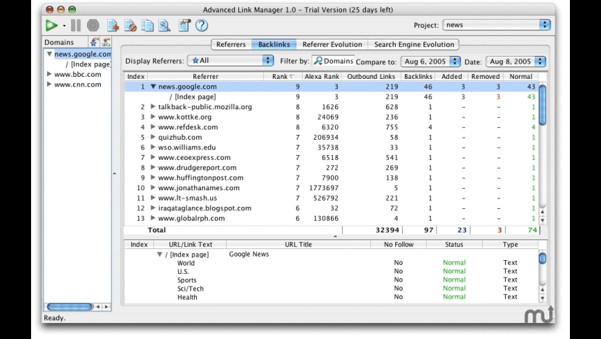 Advanced Link Manager for Mac - review, screenshots