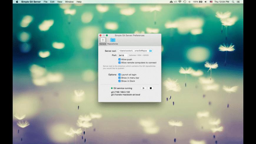 Simple Git Server for Mac - review, screenshots