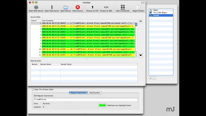 RegeX for Mac - review, screenshots