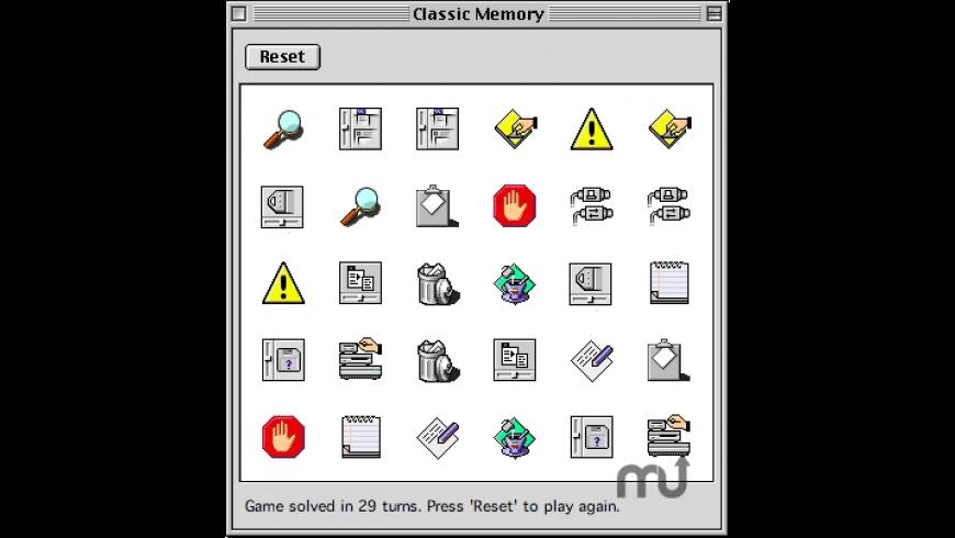 Classic Memory for Mac - review, screenshots