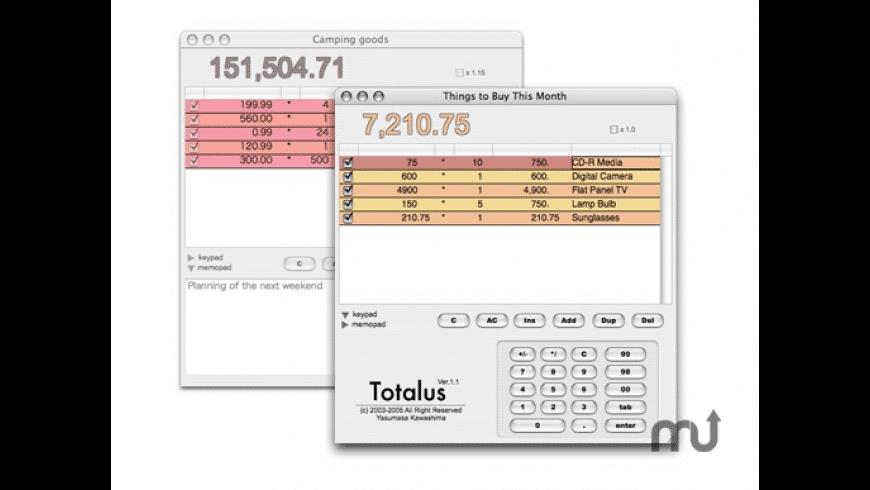 Totalus for Mac - review, screenshots