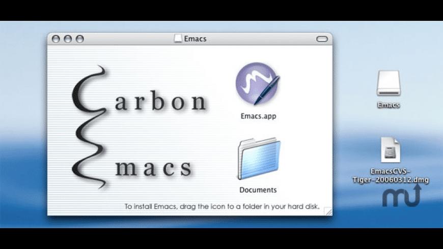Carbon Emacs for Mac - review, screenshots