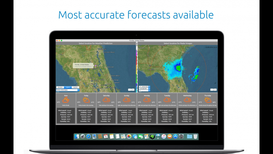 WeatherRadar for Mac - review, screenshots