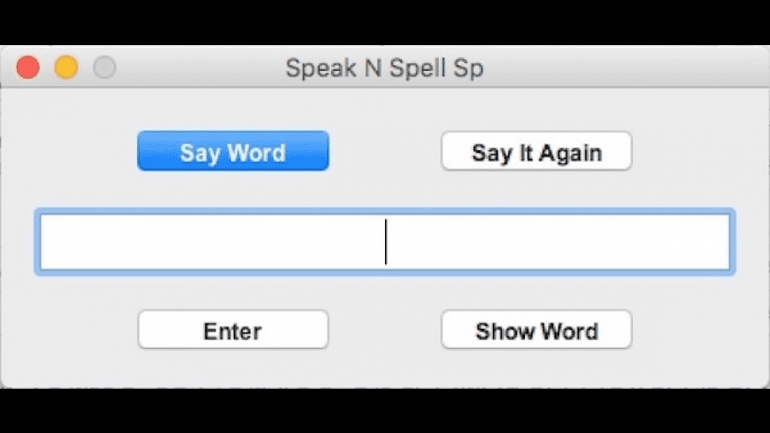 Speak N Spell Sp for Mac - review, screenshots