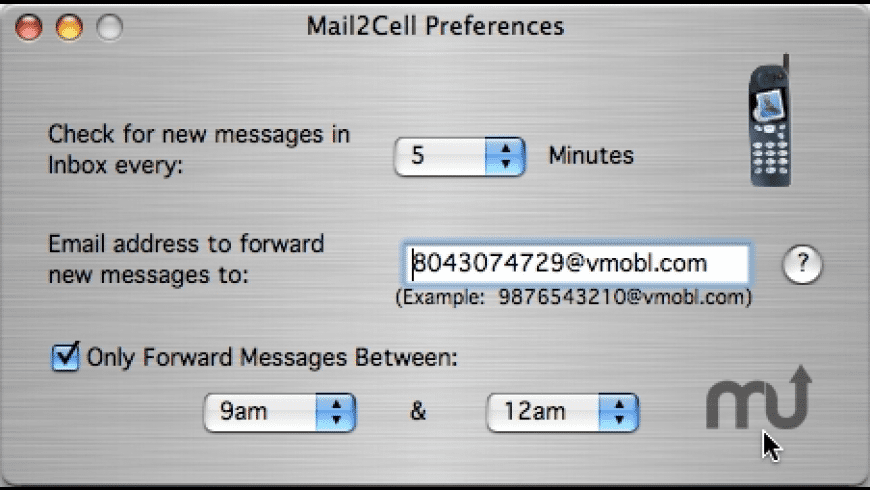 Mail2Cell for Mac - review, screenshots